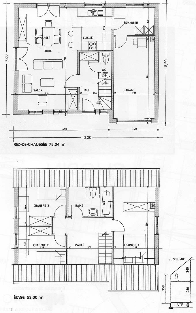 plan maison chopin
