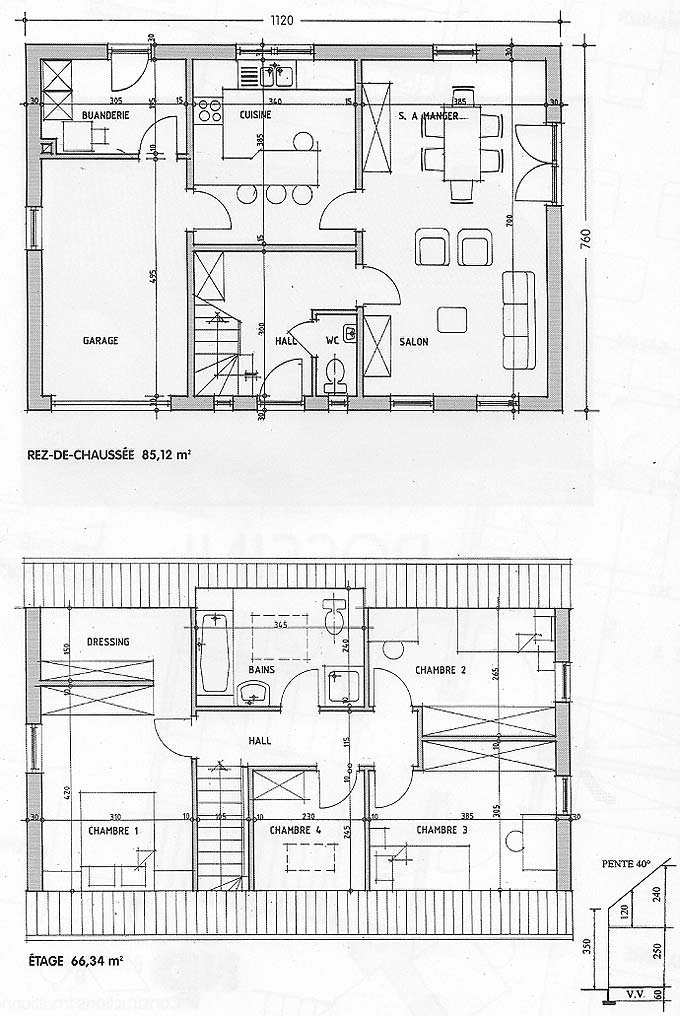 Plan maison rossini